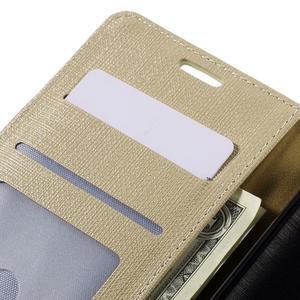 Cloth Peňaženkové puzdro pre mobil Microsoft Lumia 950 - champagne - 7