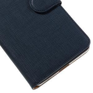 Cloth Peňaženkové puzdro pre mobil Microsoft Lumia 950 - tmavomodré - 7