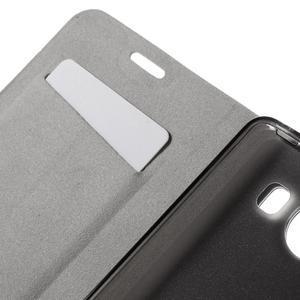 Horse PU kožené puzdro pre mobil Microsoft Lumia 950 - hnedé - 7