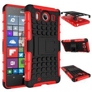 Outdoor odolný kryt na mobil Microsoft Lumia 950 - červený - 7