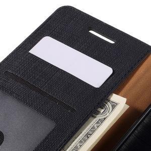 Cloth PU kožené puzdro pre mobil Microsoft Lumia 950 XL - čierne - 7