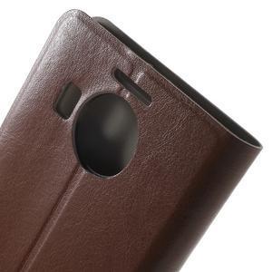 Horse peněženkové pouzdro na Microsoft Lumia 950 XL - hnědé - 7