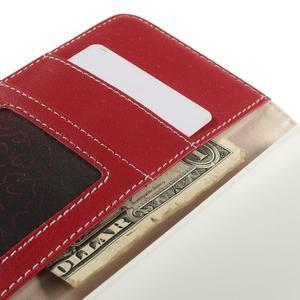 Folio PU kožené pouzdro na mobil HTC Desire 510 - červené - 7