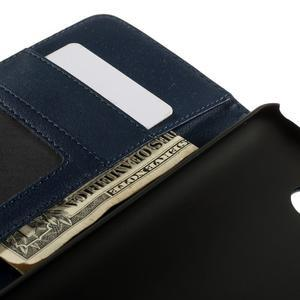 Folio PU kožené puzdro pre mobil HTC Desire 510 - tmavomodré - 7