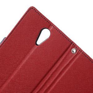 Diary PU kožené puzdro pre mobil HTC Desire 620 - červené - 7