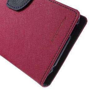 Diary PU kožené puzdro pre mobil HTC Desire 620 - rose - 7