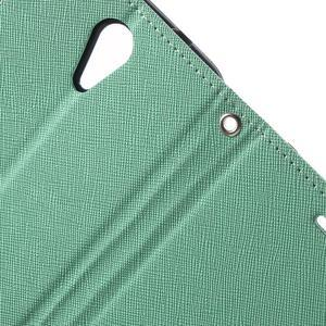 Diary PU kožené puzdro pre mobil HTC Desire 620 - cyan - 7