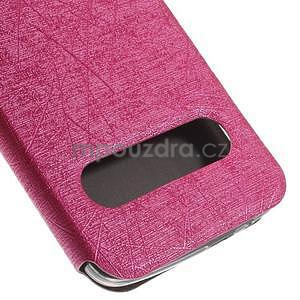 Klopové puzdro s okienkami na Huawei Ascend G7 - rose - 7