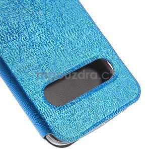 Klopové puzdro s okienkami na Huawei Ascend G7 - modré - 7