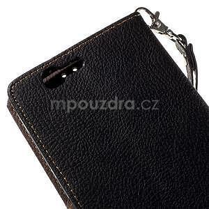 Čierne peňaženkové puzdro na Huawei Ascend G7 - 7