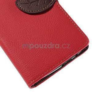 Červené peňaženkové puzdro na Huawei Ascend G7 - 7