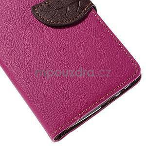 Rose peňaženkové puzdro na Huawei Ascend G7 - 7