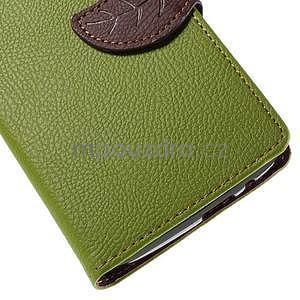 Zelené peňaženkové puzdro na Huawei Ascend G7 - 7