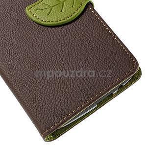 Hnedé peňaženkové puzdro na Huawei Ascend G7 - 7