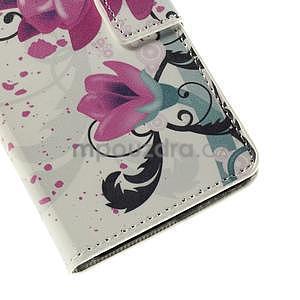 Peňaženkové puzdro Huawei Y635 - kvetinový vzor - 7