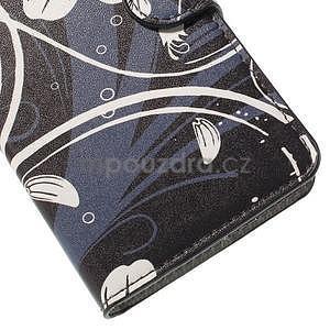 Zapínacie peňaženkové puzdro Huawei Y635 - biela kvetina - 7