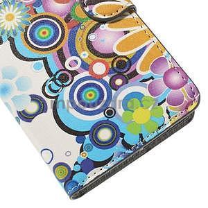 Zapínacie peňaženkové puzdro Huawei Y635 - farebné kvety - 7