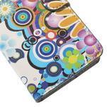 Zapínacie peňaženkové puzdro Huawei Y635 - farebné kvety - 7/7