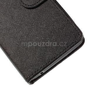 PU kožené čierne puzdro so zapínaním Huawei Y635 - 7