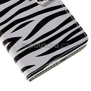 Peňaženkové puzdro na Huawei Y635 - zebra - 7