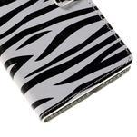Peňaženkové puzdro na Huawei Y635 - zebra - 7/7