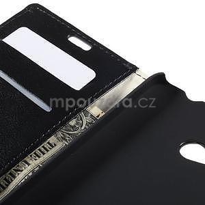 Peňaženkové kožené puzdro na Microsoft Lumia 640 - čierné - 7