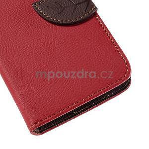 PU kožené púzdro so zapínaním na Nokia Lumia 730/735 - červené - 7