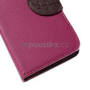 PU kožené púzdro so zapínaním na Nokia Lumia 730/735 - rose - 7