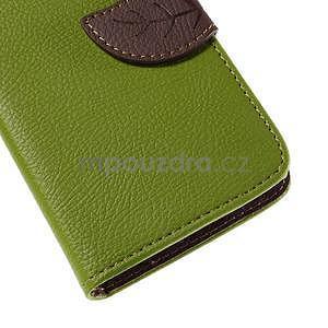PU kožené púzdro so zapínaním na Nokia Lumia 730/735 - zelené - 7