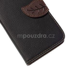 PU kožené púzdro so zapínaním na Nokia Lumia 730/735 - čierne - 7