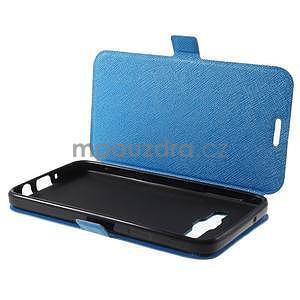 Klopové kožené puzdro na Samsung Galaxy A3 - modré - 7