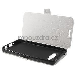Klopové kožené puzdro na Samsung Galaxy A3 - biele - 7