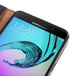 Cloth peněženkové pouzdro na Samsung Galaxy A5 (2016) - černé - 7/7