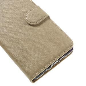 Cloth peňaženkové puzdro pre Samsung Galaxy A5 (2016) - champagne - 7