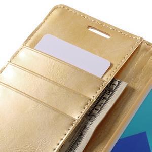 Luxusný PU kožené puzdro pre mobil Samsung Galaxy A5 (2016) - zlaté - 7