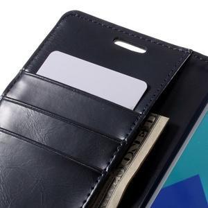 Luxusní PU kožené pouzdro na mobil Samsung Galaxy A5 (2016) - tmavěmodré - 7