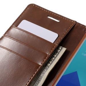 Luxusný PU kožené puzdro pre mobil Samsung Galaxy A5 (2016) - hnedé - 7