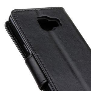 PU kožené puzdro pre mobil Samsung Galaxy A5 (2016) - čierne - 7