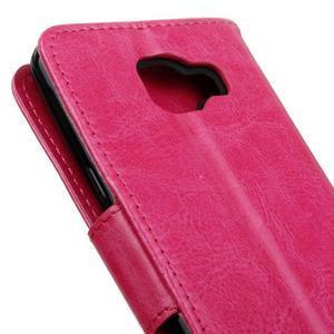 PU kožené puzdro pre mobil Samsung Galaxy A5 (2016) - rose - 7