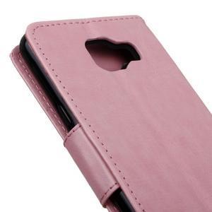 PU kožené puzdro pre mobil Samsung Galaxy A5 (2016) - ružové - 7