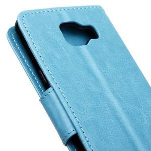 PU kožené pouzdro na mobil Samsung Galaxy A5 (2016) - modré - 7