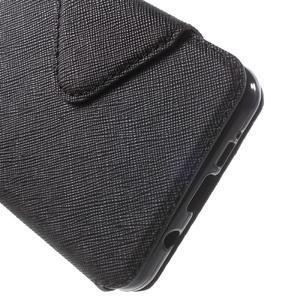 Peněženkové pouzdro s okýnkem na Samsung Galaxy A5 (2016) - černé - 7