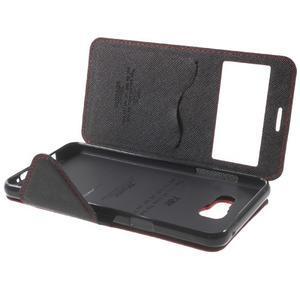 Peňaženkové puzdro s okienkom pre Samsung Galaxy A5 (2016) - červené - 7