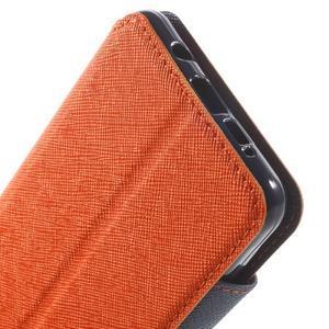 Peňaženkové puzdro s okienkom pre Samsung Galaxy A5 (2016) - oranžové - 7