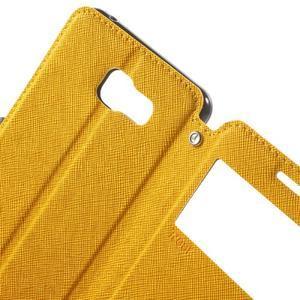 Peňaženkové puzdro s okienkom pre Samsung Galaxy A5 (2016) - žlté - 7