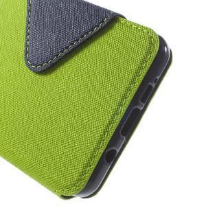 Peněženkové pouzdro s okýnkem na Samsung Galaxy A5 (2016) - zelené - 7