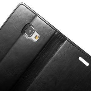 Moon PU kožené pouzdro na Samsung Galaxy A5 (2016) - černé - 7