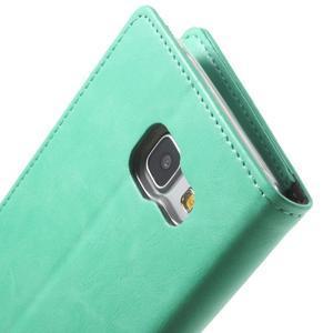 Moon PU kožené pouzdro na Samsung Galaxy A5 (2016) - cyan - 7