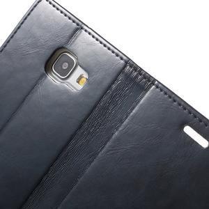 Moon PU kožené pouzdro na Samsung Galaxy A5 (2016) - tmavěmodré - 7