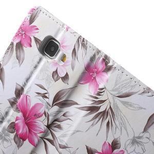 Květinové peněženkové pouzdro na Samsung Galaxy A5 (2016) - bílé - 7
